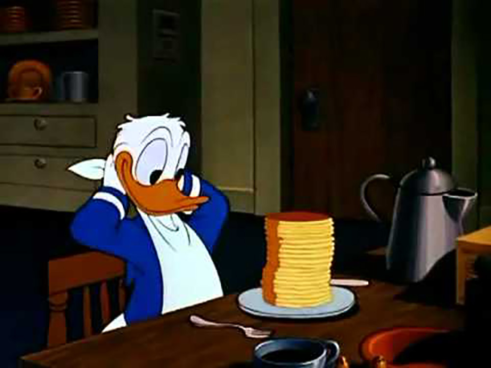 how to make donald duck pancakes
